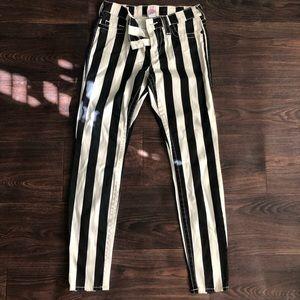 True Religion Halle vertical striped skinny jeans